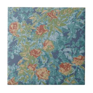 Tarnung und Blumen Kleine Quadratische Fliese