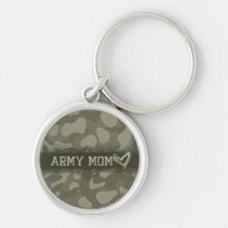 Tarnungs-Armee-Mamma-Herz der Liebe Schlüsselanhänger
