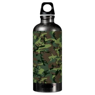 Tarnungs-Camouflage-Grün-Brown-Muster Aluminiumwasserflasche