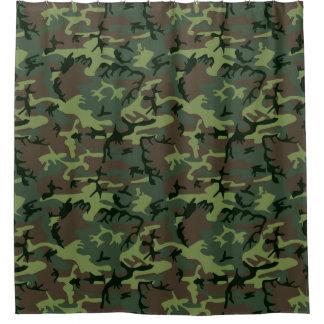Tarnungs-Camouflage-Grün-Brown-Muster Duschvorhang