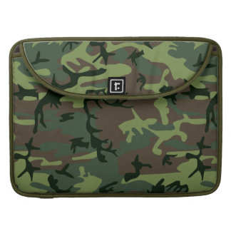Tarnungs-Camouflage-Grün-Brown-Muster MacBook Pro Sleeve