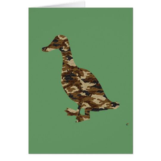 Tarnungs-Enten-Silhouette Grußkarte