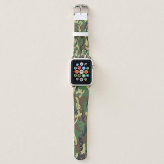 Tarnungs-Grün und Brown-Muster-Militär Apple Watch Armband
