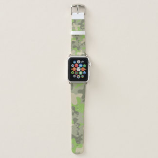 Tarnungs-grünes Muster-Militär Apple Watch Armband