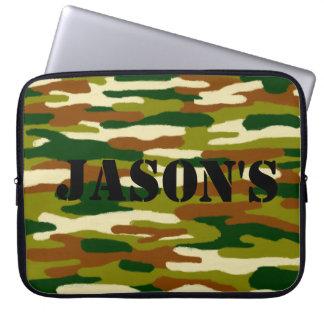 Tarnungs-individueller Name Laptop Sleeve