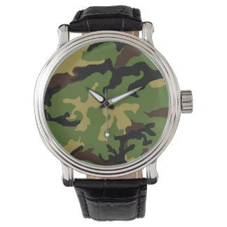 """Tarnungs-Militärtribut-"" Uhr Uhr"
