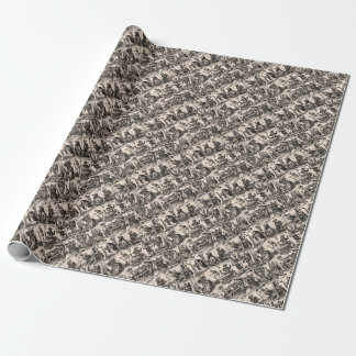 Tarot kardiert Muster Geschenkpapierrolle