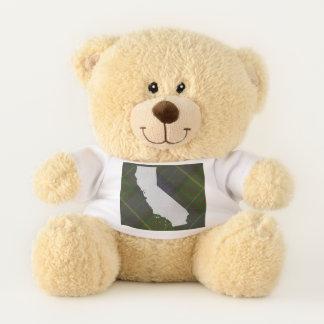 Tartan de la Californie et ours de nounours d'état