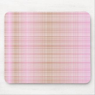 Tartan de Pink&Brown Tapis De Souris