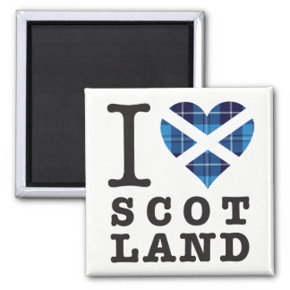 Tartan-Herz - Liebe Schottland Quadratischer Magnet