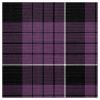 Tartan-Muster violettes Schwarz-weißes ID305 Stoff