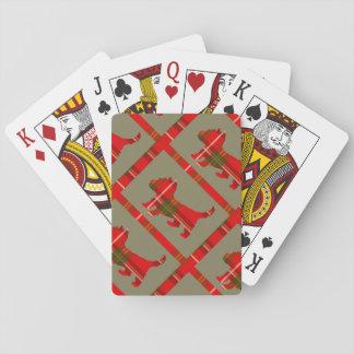 Tartan-Welpen-Entwurf auf Spielkarten