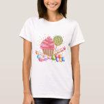 Tartes de bonbon à lucette de sucrerie de petit t-shirt