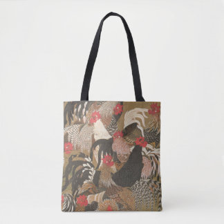 Roosters Japanese Art Rooster Year 2017 Bag