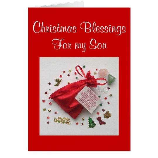 Tasche des Weihnachtssegens für meine Grußkarte