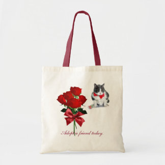 Tasche:  Felix, die Katze, am Valentinstag Tragetasche