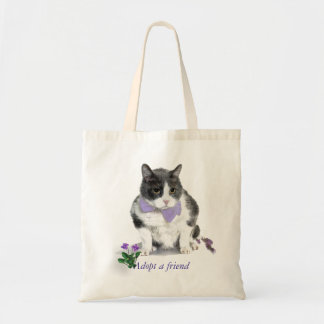 Tasche:  Felix, die Miezekatze, im Monat Mai Budget Stoffbeutel