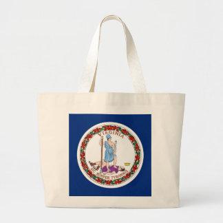 Tasche mit Flagge von Virginia-Staat - USA
