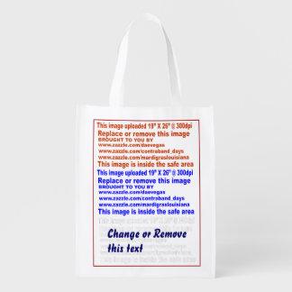 """Tasche wiederverwendbare 50 lbs. Schwach: 12"""" x Wiederverwendbare Einkaufstasche"""