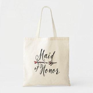 Taschen-Tasche des Trauzeugin-Braut-Stamm-  Budget Stoffbeutel