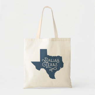 Taschen-Tasche Kunst-Deko-Art-Dallas Texas - Blau Tragetasche