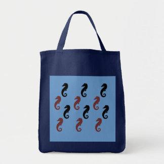 Taschen-Tasche - Seepferde Einkaufstasche