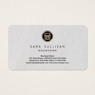 Taschenrechner-Ikonen-Buchhalter-Prämie Visitenkarte