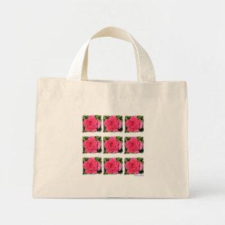 Taschentasche - rosa Rose Mini Stoffbeutel