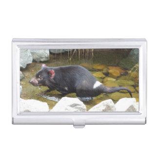 Tasmanischer Teufel-Visitenkarte-Halter Visitenkarten Etui
