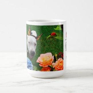 Tasse 15oz: Mitzy das Mariposa (Hund mit Flügeln)