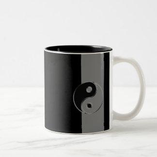 Tasse an zwei Farben Yin Yang Noir/Gris