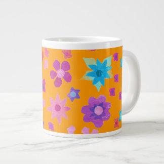 Tasse assez orange d'éléphant de Flower power Mugs Jumbo