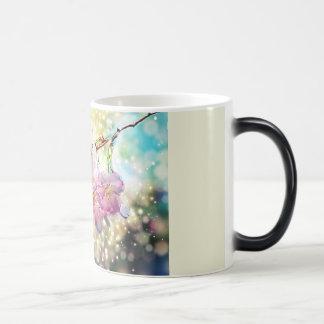 Tasse. Blumen, Apfelblüten, Kirschblüten Verwandlungstasse