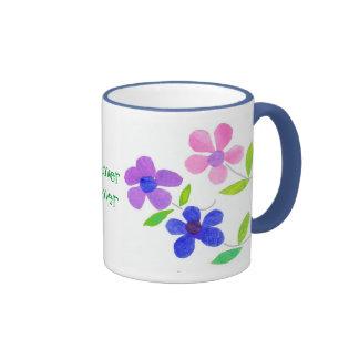 Tasse de café de flower power