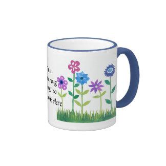 """Tasse de café de Personalisable """"flower power"""""""