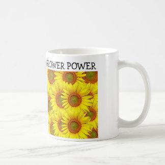 Tasse de café de tournesol de flower power