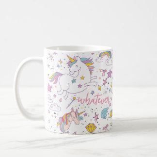 Tasse de café magique de licorne