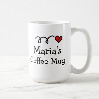 Tasse de café personnalisée avec le nom et le