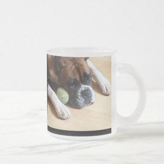 Tasse de chien de boxeur