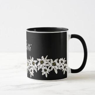 Tasse de fleur d'edelweiss