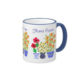 "Tasse de sonnerie de ""flower power"""