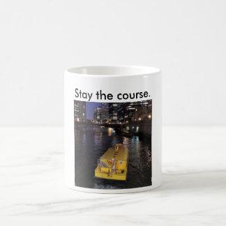 Tasse des Chicago River Taxi-Sprichwortaufenthalts