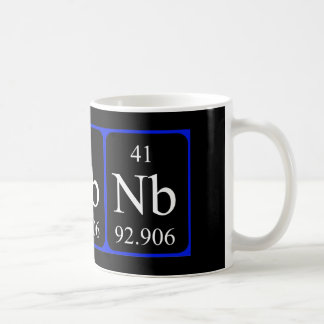 Tasse des Elements 41 - Niobium