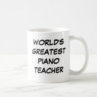 """Tasse du plus grand """"professeur de piano du monde"""""""
