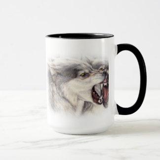 tasse espiègle de loups