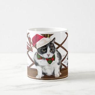 Tasse:  Felix, die Katze, am Weihnachten Kaffeetasse