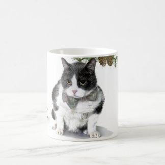 Tasse: Felix, die Katze, Camping im August Kaffeetasse
