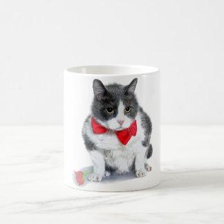 Tasse:  Felix, die Katze, im Februar Kaffeetasse