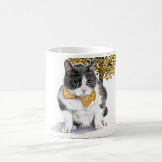 Tasse:  Felix, die Katze, im Oktober Kaffeetasse