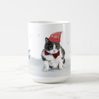 Tasse: Felix, die Miezekatze, im Januar Tasse